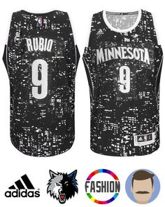 8879d5076 Men s Ricky Rubio  9 Black Swingman Fashion Jersey