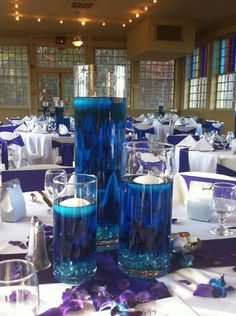 DIY Wedding Centerpieces, romantic info reference 8013281617 - Pretty clever help for a truly beautiful centerpiece. diy wedding centerpieces summer solutions shared on this moment 20181218 , Royal Blue Centerpieces, Cylinder Vase Centerpieces, Water Centerpieces, Wedding Table Centerpieces, Centerpiece Ideas, Candle Vases, Wedding Decorations, Centerpiece Flowers, Shower Centerpieces
