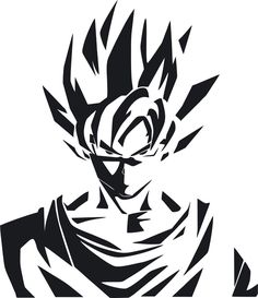 Dragon Ball Z DBZ logo Super Saiyan Goku Anime Vinyl Die Cut ...