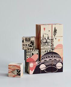 Image of Mini Empire wooden blocks