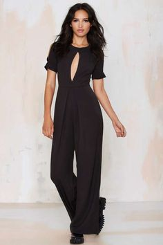 Peek-a-Boo Cutout Jumpsuit - Rompers + Jumpsuits