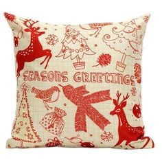 Xmas Elk Tree Cushion Pillow Cover Christmas Home Decoration (7.76 BAM) ❤ liked on Polyvore featuring home, home decor and christmas home decor
