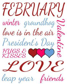 Clip Art | Month of February Snowman Love Clip Art Image - the word ...
