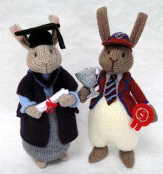 Alan Dart Knitting Pattern: Bravo Bunnies Graduate and Champion