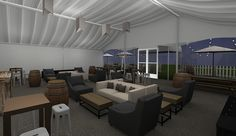 Event Design for Western Asset- Outdoor Lounge