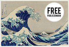 """The Great Wave"" BIG Japanese Woodblock Print Hokusai Asian Art Japan Warrior Great Wave Off Kanagawa, The Veil, The Great, Posters Vintage, Album Cover, Katsushika Hokusai, Johannes Vermeer, Art Japonais, Poster S"