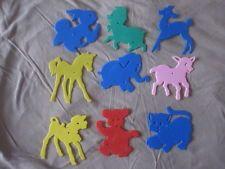 Retro 1960's plastic animal stencils set of 9