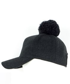 089411e1f6d3fc Echo Design pom pom baseball cap Baseball Cap, Iridescent, Winter Hats,  Baseball Hat