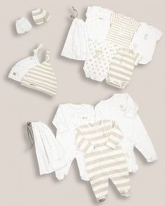 Unisex Baby Hospital List 14 piece Starter Set - Hospital Bag - View by Range - Newborn Baby List