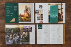 The Links by Infinity Properties - Free Agency Creative Annual Report Sample, Annual Reports, Creative Brochure, Brochure Design, Print Design, Graphic Design, Hospital Design, Booklet Design, Inspiration Wall