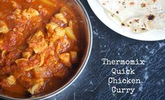 This Chicken Curry is a quick and easy version of a classic Indian dish. Quick and easy in the Thermomix with minimal prep needed, this makes a great family dinner. Chicken Recipes Thermomix, Thermomix Recipes Healthy, Chicken Wing Recipes, Chicken Meals, Healthy Chicken Curry, Steamed Chicken, Curry Recipes, Main Meals, Indian Food Recipes