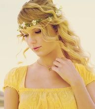 Taylor Swift in yellow.