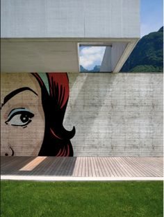 Outdoor Wallaper by Wall & Deco - Italy  Their OUT - Outdoor Unconventional Textures - system is a three-part covering that allows for incredible photographic reproductions and large-scale graphic designs to be applied onto outside walls. The system consists of an adhesive, a technical fabric and a finishing treatment.