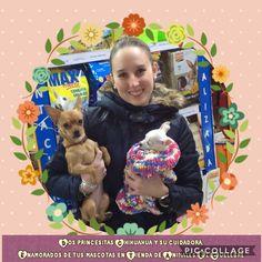 Dos princesitas Chihuahua y su cuidadora. Enamorados de tus mascotas en Tienda de Animales El Cuélebre