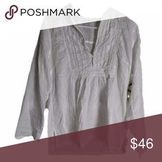 Johnny Was White Tunic Top S Perfect This is a perfect little white tunic top made by Johnny Was size small. It is in excellent condition with no stains, tears, fraying or fading. As all of my products, it is 100% authentic Johnny Was Tops Tunics