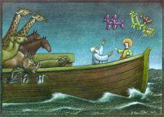 de PAWEL KUCZYNSKI  #payaso y sus figuras de animales.. y esos #animales