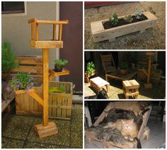 #Garden, #PalletChair, #PalletFurniture, #PalletSofa, #PalletTable, #RecycledPallet