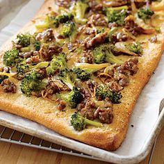 Savor sausage suppers for less than $2 | Broccoli and Sausage Focaccia | AllYou.com