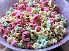 Pop-corn sucré coloré