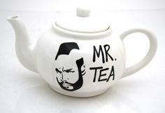"""This is a one of a kind, upcycled teapot featuring my homage to Mr. T. I pity the fool who does not remember this character from the A Team, a great television show from the 1980s. """