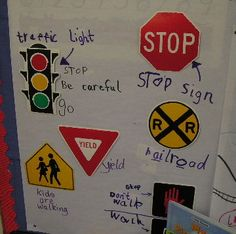 Labeling safety signs and helping children understand what the signs ...