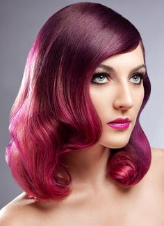 "Pravana ""Urban Ombre Hair"" -- get the steps to how to achieve this look! Love this color and style"