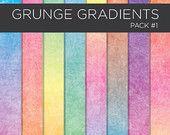 Textured Digital Paper pack - Grunge Gradients printable scrapbook paper - Instant Download DIY - Pack 1
