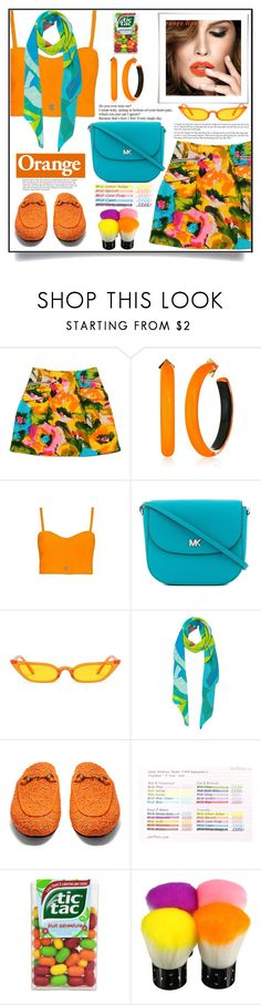 """Dreamsicle: Pops Of Orange"" by shoaleh-nia ❤ liked on Polyvore featuring Nanette Lepore, Alexis Bittar, Intermix, MICHAEL Michael Kors, Taisir Gibreel and Gucci"