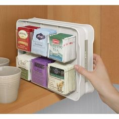 YouCopia TeaStand 100 Tea Bag Organizer Color: Bright White