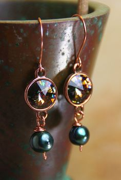 Swarofski Crystal Rivoli Earrings with by AllowingArtDesigns, $22.00
