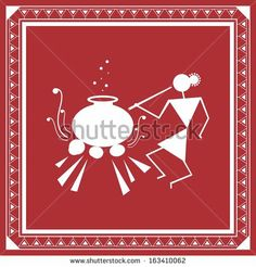 268 best indian art warli paintings images on pinterest indian tribal painting warli painting stock photo altavistaventures Image collections