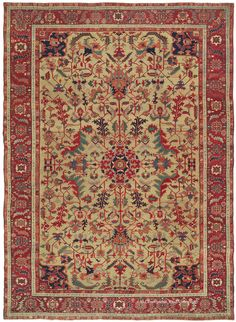 SERAPI, Northwest Persian 8ft 9in x 12ft 1in Circa 1875  Exemplifying the art-level antique rugs in our collection, this exceptionally spirited Persian Serapi village piece is an awe-inspiring 140-year-old carpet.