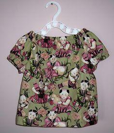 Peasant Blouse Tutorial. (Children OR Adults) indietutes: peasant blouse