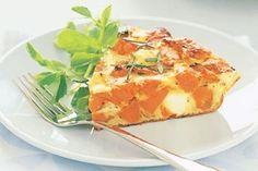 Sweet potato & feta frittata