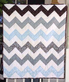 Jachin's Chevron baby quilt
