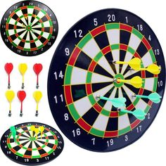 16 /18 Official Size Magnetic Dartboard w/ 6 Darts Included Magnetic Dart Board