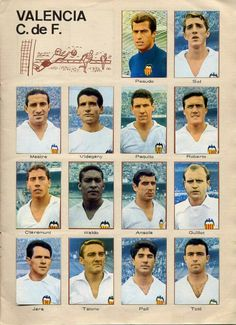Valencia team stickers in Valencia, Football, Baseball Cards, Retro, 1960s, Sports, Stickers, Random, Trading Cards