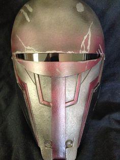 Jedi Temple Guard Custom Mask revan Helmet Star Wars by lionsdendc Armor Cosplay, Jedi Temple Guard, Star Wars Kotor, Mandalorian Armor, Star Wars Rpg, Sith Lord, Helmet, Sketch Ideas, Star Wars