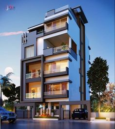 Unique Architecture Design Of Modern Apartment Architecture Design, Facade Design, Architecture Colleges, Modern Residential Architecture, Architecture Awards, Modern Home Design, Modern Homes, Home Modern, House Front Design