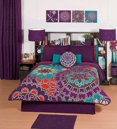 fun purple bedding