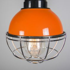 Pendelleuchte Harbor orange: #retroleuchte #pendelleuchte #wandleuchte #orange
