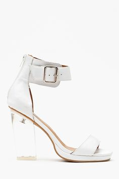 How do you think the Jeffrey Campbell Soiree Platform in white compares with the black with clear strap?