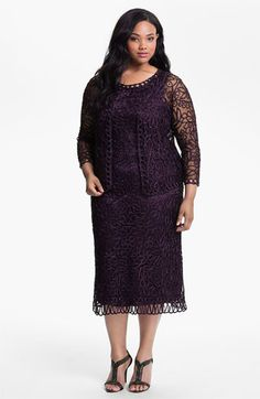 1920s Inspired Soulmates Crochet Dress with Jacket (Plus) $380