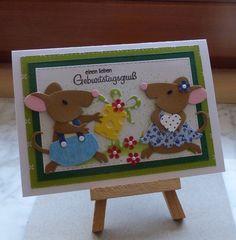 Geburtstag - Glückwunschkarte zum Geburtstag - ein Designerstück von Wollzottel bei DaWanda