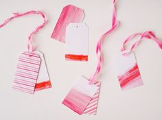 diy dip-dye ribbons. by heylook for ruffled blog.