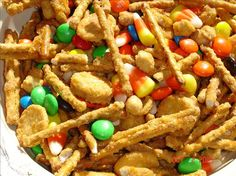 "Halloween Party Mix: ""I made this as a snack for my kids. However, my biggest kid (husband) couldn't stop eating them. Yummy, crunchy, sweet and salty."" -FruitLoop"