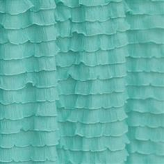Add a little pizazz to your crib bedding by adding a ruffle crib skirt. Incorporates shabby chic baby room décor to your girl nursery - Baby Bed Skirts crib bedding are made with an extra long dro Half Curtains, Ruffle Curtains, Ruffle Fabric, Valance, Girl Nursery Colors, Nursery Decor, Aqua Nursery, Mermaid Nursery, Mermaid Room