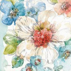 Framed Summer Bloom III Print
