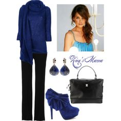 """Blue Belle"" by zionsmama on Polyvore"