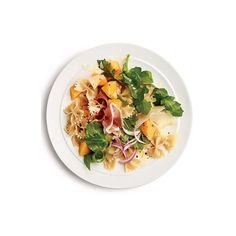 Prosciutto and Melon Pasta Salad ❤ liked on Polyvore featuring food, food and drink, fillers and food & drink
